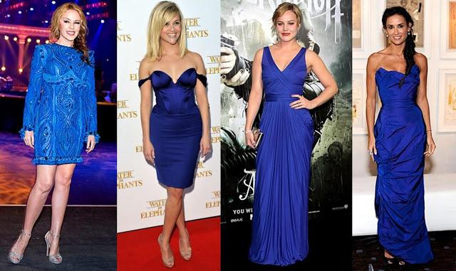 Cobalt Color Dress Celebrities Dress in Cobalt