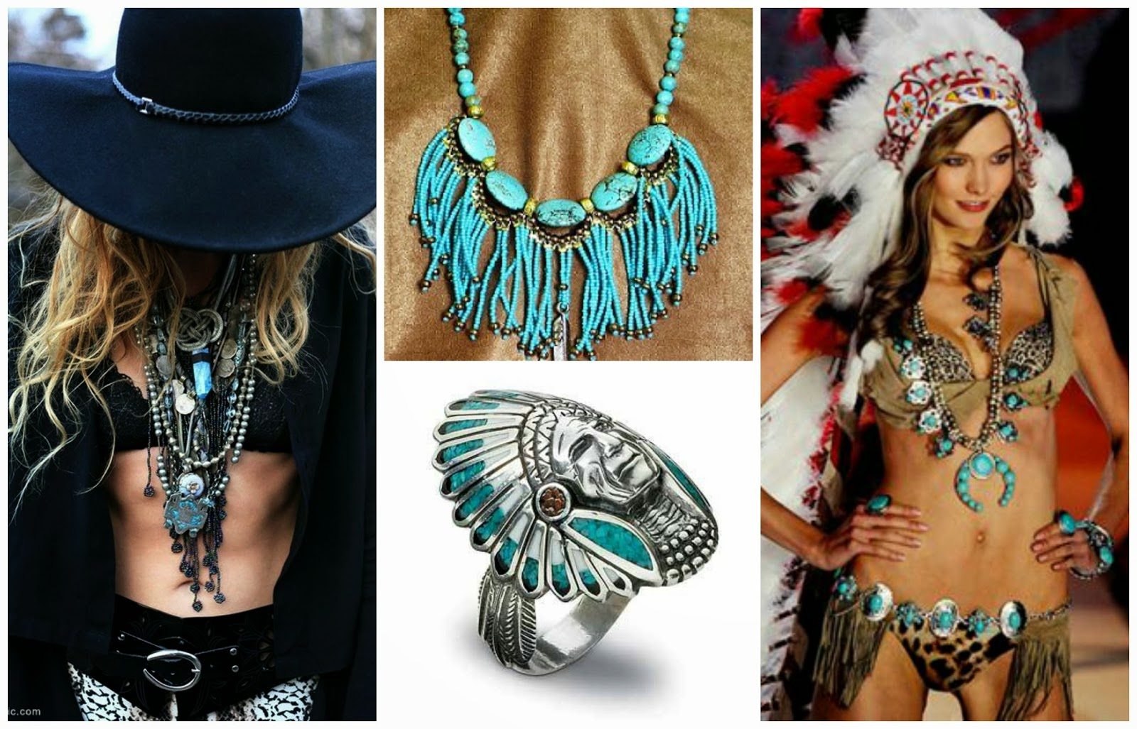 Native american indian inspired jewelry clubfashionista2 for How to make american indian jewelry