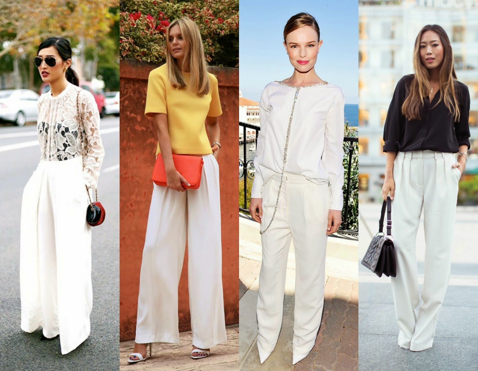 Wide Legged White Pants | clubfashionista2