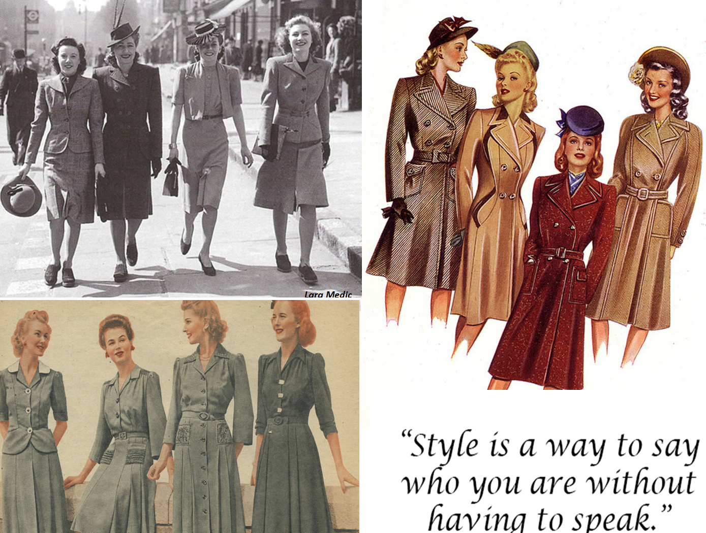 top ten fashion trends from the 1940s top ten fashion ...