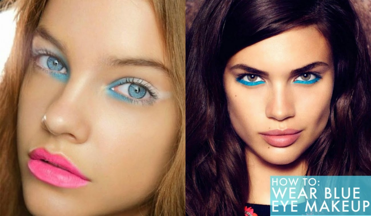 How To Wear Blue Eye Makeup Tutorial Clubfashionista2